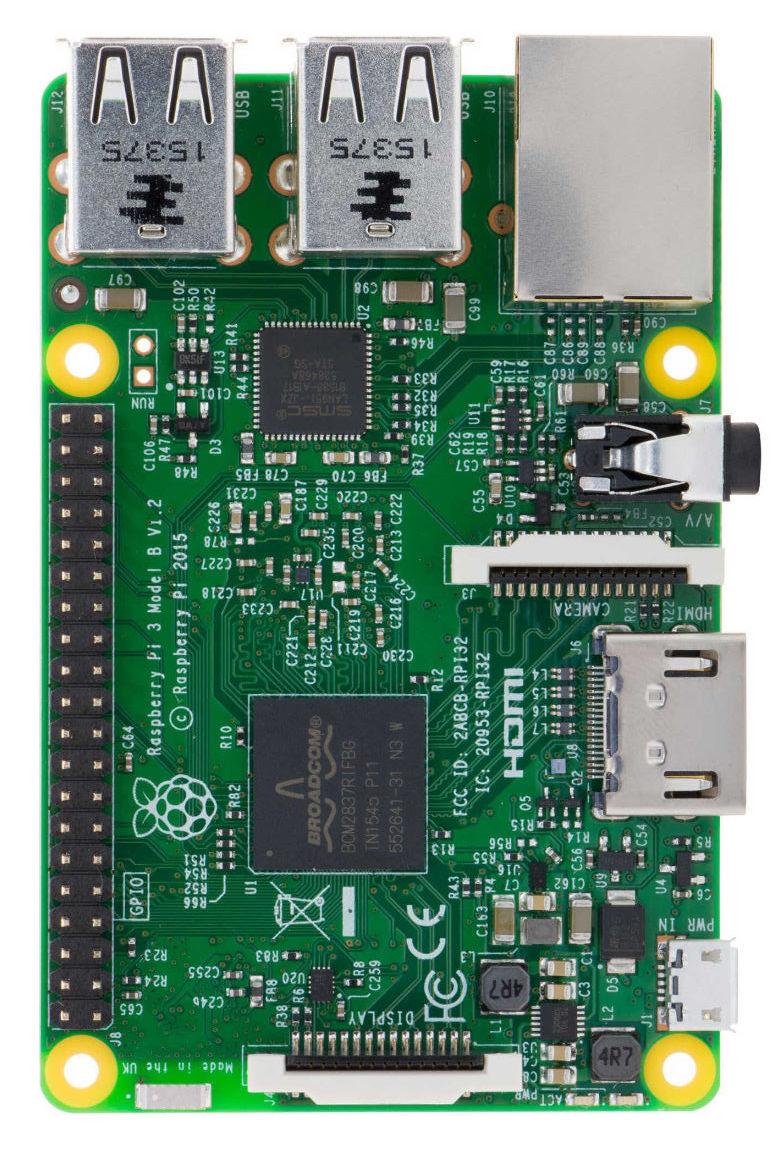 Raspberry Pi 3 Dessus